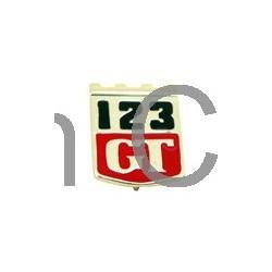 """Embleem spatbord """"123GT"""" van '67 tot '69"""