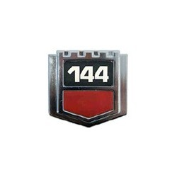 """Embleem """"144"""" spatbord van '73 tot '74"""