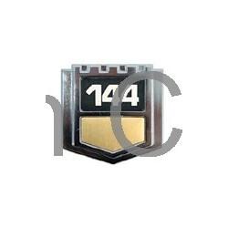 """Embleem """"144"""" spatbord B20E, B20F van '73 tot '74"""