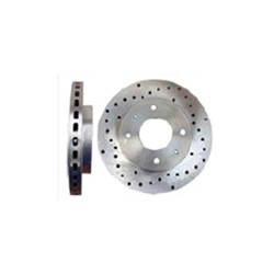 Brake disc Front axle perforated