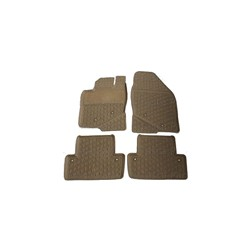 Floor accessory mats Rubber beige