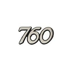"""Embleem kofferdeksel """"760"""" tot '85"""