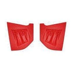 Binnenpaneelset A-stijl rood voor beide zijden van '64 tot '69