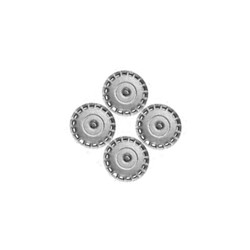 Wieldoppenset zilver 16 Inch voor stalen velgen