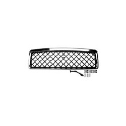 Radiatorrooster styling chroom / zwart met diamant rooster